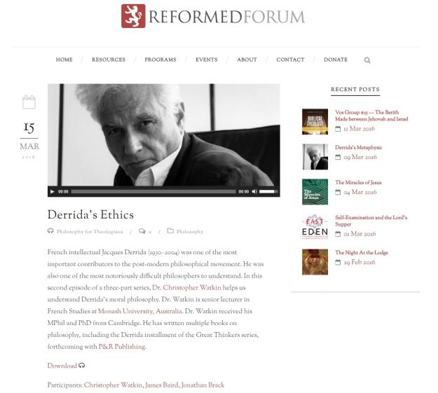 Derrida's Ethics