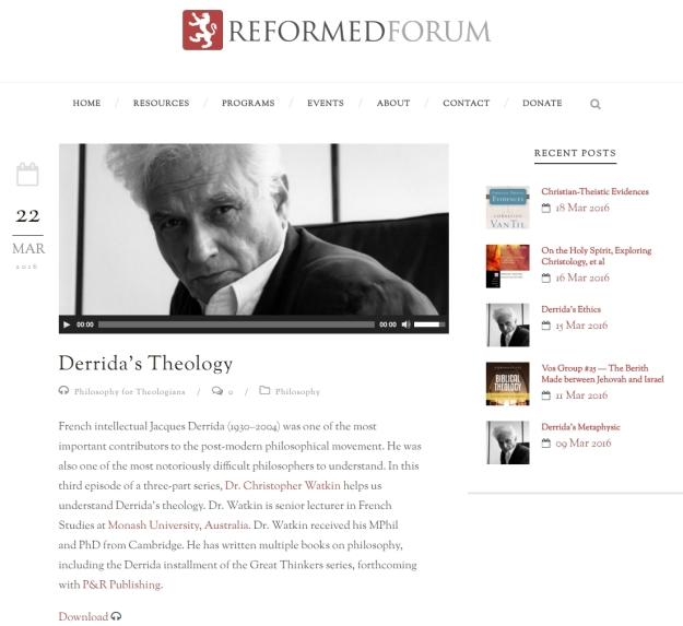 Derrida's theology