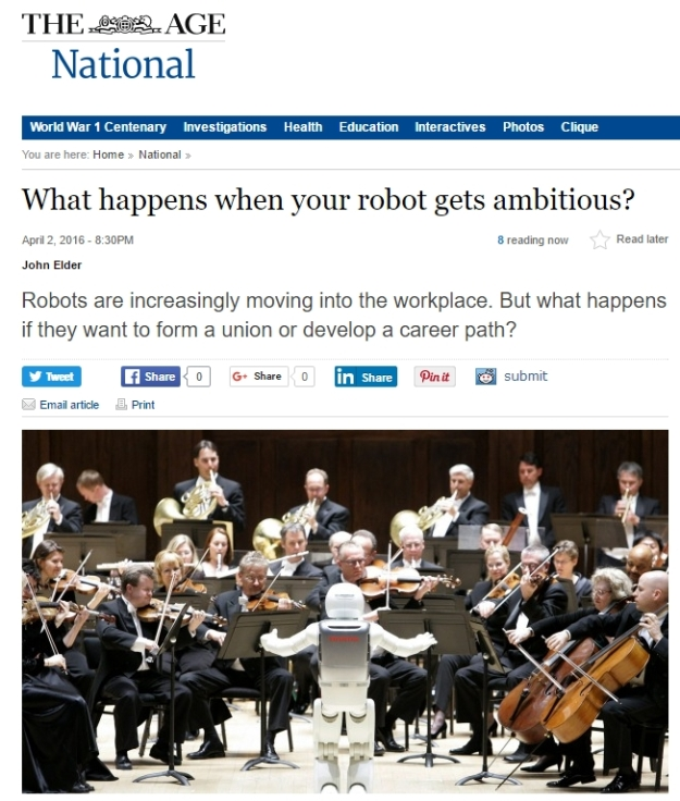 The Age--What happens when your robot gets ambitious